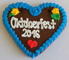 Wiesn Lebkuchenherzen Spruch Oktoberfest 2016 b 12 cm Deko