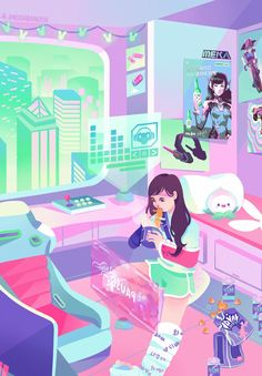 Chilling out 🐰 🍜 Overwatch Comic, Overwatch Fan Art, Overwatch Drawings, Kawaii Art, Kawaii Anime, Overwatch Wallpapers, Game Art, Character Design, Video Games