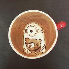 """Minions Latte Art"": Gestern noch im Kino, heute schon auf dem Kaffee?"