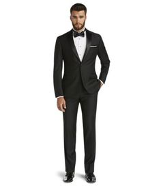 Signature Tailored Fit Notch Lapel Tuxedo with Plain Front Trousers | JoS. A. Bank Clothiers