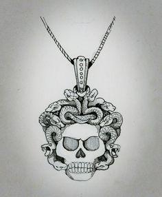 Jewelry sketch. Medusa pendant sketch. Jewellery Sketches, Jewelry Sketch, King Baby, Body Love, Medusa, Tatting, Ink, Pendant, Women