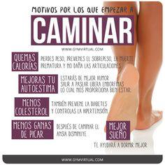 Motivos-para-empezar-a-caminar_web Insanity Workout, Good Habits, Fat Burning Workout, Training Tips, Health Remedies, Diet Tips, Workout Videos, Healthy Tips, Diabetes