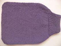 Pucksack Strampelsack Merinowolle 60cm gestrickt