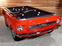 Mesa de Billar hecha de un Ford Musang de 1965