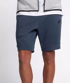uk availability 622a7 7d049 Nike Sportswear Tech Fleece AOP Blue Shorts 861683-471 Size Large L for  sale online   eBay