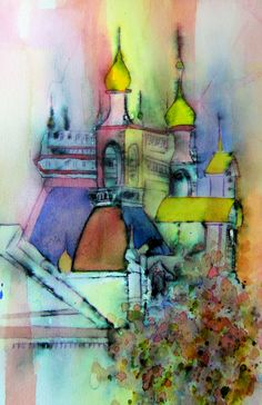 "Karlyn Holman video ""Watercolor without boundaries, part 2""."