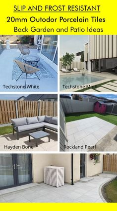 Garden Inspiration and Back Garden and Patio Ideas with Outdoor Tiles. Browse outdoor porcelain tiles designed for Irish weather and market. All tiles are available in stock and ready to deliver natinwide in Ireland. Order free outdoor porcelain samples tile on our website www.tilemerchant.ie or visit our tile stores in Dublin (Dublin - Ireland). Outdoor Porcelain Tile, Outdoor Tiles, Porcelain Tiles, Outdoor Decor, Garden Slabs, Patio Slabs, Irish Weather, Tile Stores, Back Gardens