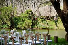 Woodland #Wedding #Ceremony // Styled by Sugar & Spice Events, Photography by Tim Sherriff