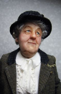 Miss Marple Miniature Doll by Sharon Cariola