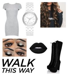 """""""🌚"""" by taylor-robert ❤ liked on Polyvore featuring Boohoo, DKNY and Lime Crime"""