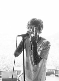 Words can't describe how much he and the whole fuckin band have helped me❤
