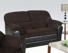 Acme Furniture - Connell Leather Loveseat in Chocolate - 15976