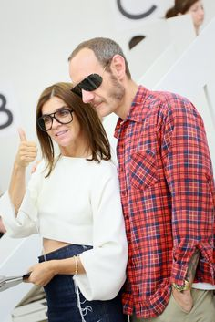 Carine Roitfeld and Terry Richardson Front Row at Theyskens' Theory [Photo by Scott Rudd]