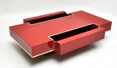 "RARE ""Maison Jansen"" Red Lacquer Coffee Table image 6"
