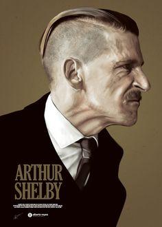 ARTHUR SHELBY – Peaky Blinders Poster Series