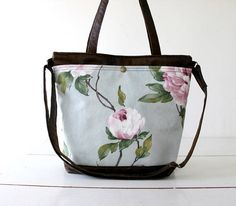 Crossbody bagmessenger handbagvegan FAUX LEATHER & cotton