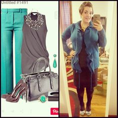 #ChubbyChique 12-3-2015 #ootd #decemberpinneditspinnedit Black and teal inspiration