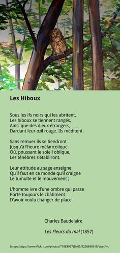Baudelaire - Les Hiboux