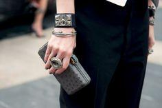 Hermes cuffs on Kate Lanphear