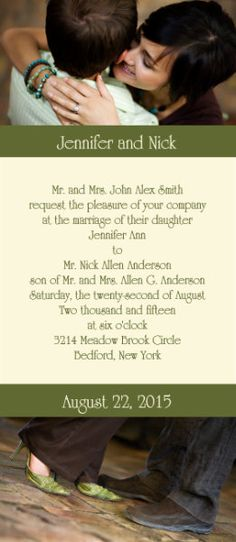 The Oakland tea photo wedding invitations. #pictures #invites