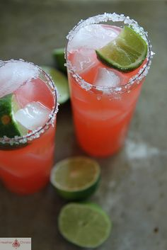 Strawberry Rhubarb Margarita by Heather Christo, this sounds like a lovely way to use up some of the mountains of rhubarb!