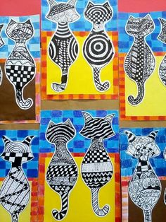 Animal art lessons patterns ideas for 2019 Art 2nd Grade, Club D'art, Classe D'art, Ecole Art, Art Lessons Elementary, Elementary Education, Art Education, School Art Projects, Elements Of Art
