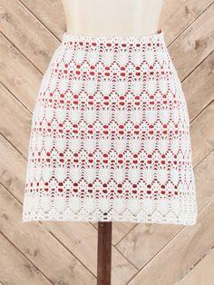 Judith March Crochet Skirt in Crimson at altardstate.com #gameday