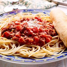 Bolognese sauce is a hearty Italian meat and vegetable sauce flavored with red wine and cream.