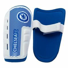 Chelsea Fc Shinpads Shin Pads Kids 7-9 Yrs Approx 19cm & Grip Seal Bag