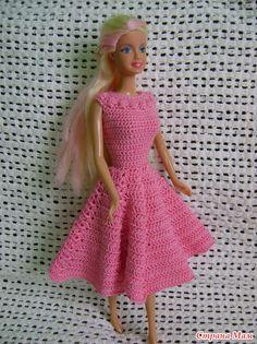 CROCHET FOR BARBIE - IDEAS - Новые наряды для куклы Барби