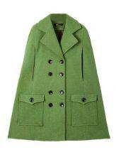 Star Stalker Batwing Style Sleeveless Green Coat $78    sheinside.com