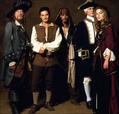Elizabeth Swann, Will Turner, Jack Sparrow, James Norrington & Hector Barbosa Elizabeth Swann, Captain Jack Sparrow, Johnny Depp, Narnia, James Norrington, Hector Barbossa, Bateau Pirate, Fandoms, Pirate Life