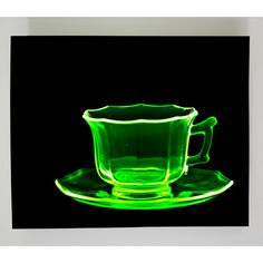 Radiant Art Studios X-ray Designs Uranium Glass Teacup Graphic Art Plaque Tea Cup Art, 70s Vintage Fashion, Glass Tea Cups, Vaseline Glass, Contemporary Wall Art, Metal Wall Art, Art Studios, Graphic Art, 3 D