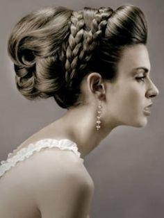 hair ideas bridesmaids wedding hair updos hair flowers hair veils hair jewelry hair styles medium length hair for wedding hair hair for guests Braided Hairstyles Updo, Grecian Hairstyles, Indian Wedding Hairstyles, Braided Updo, Bride Hairstyles, Vintage Hairstyles, Greek Hairstyles, Bun Braid, Pigtail Hairstyles