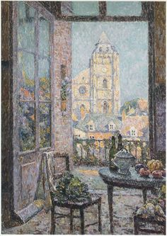 Table by the Window (Henri Le Sidaner - 1920)