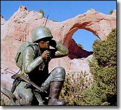 Window Rock Arizona - Navajo Code Talkers Memorial