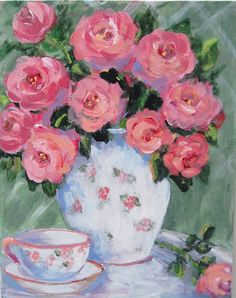 Painting Pink Roses