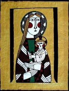 Watanabe Sadao: Madonna and Child- 1 - Japanese Art Open Database