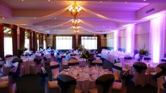 Ashlee & Brad's Wedding December 13th 2014 Panorama Room. Decorated by Active Draping. Floral arrangements by Jenny Bourke Florists