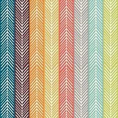 Quill Stripe Multi by Jay-Cyn Designs for Birch Fabrics - 1 Yard - Serengeti - Birch Organic - Organic Cotton - Stripes Chevron Fabric Geometric Arrow, Fabric Factory, Chevron Fabric, Fabulous Fabrics, Bullet Journal, Baby Quilts, Fabric Patterns, Quilling, Green And Grey