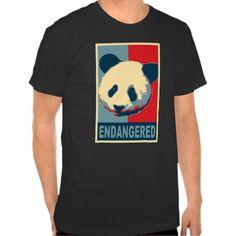 Endangered Panda Pop Art Design T Shirts
