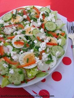 Cauliflower Salad, How To Cook Fish, Cooking Recipes, Healthy Recipes, Cooking Fish, Polish Recipes, Polish Food, Easy Salads, Caprese Salad