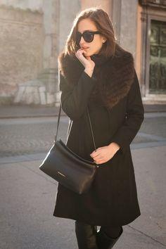 Blumarine coat and my favorite Celine sunglasses #blumarine #burberry #celine #ootd