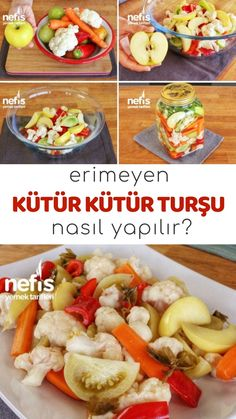 Video lectures insoluble Küter frenzy Mixed Pickles How? (Video) video recipes in this book description and photos of the people who tried here. Turkish Recipes, Italian Recipes, Ethnic Recipes, Mixed Pickle, Breakfast Recipes, Dessert Recipes, Good Food, Yummy Food, Fish And Meat