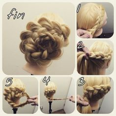 You can only do this of you have long ass hair Wedding Hairstyles For Long Hair, Messy Hairstyles, Bridal Hair And Makeup, Hair Makeup, Medium Hair Styles, Curly Hair Styles, Hair Arrange, Hair Setting, Pinterest Hair
