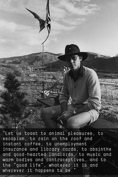 Hunter S. Thompson quote