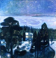 Edvard Munch - White Night (1900-1901)