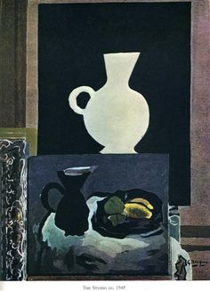 The Studio (I), 1949 by Georges Braque. Cubism, Expressionism. still life. Private Collection