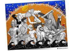 Kalevala-taidetta kouluille opetuksen tueksi