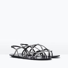 Image 2 of FLAT CHAIN SANDALS from Zara